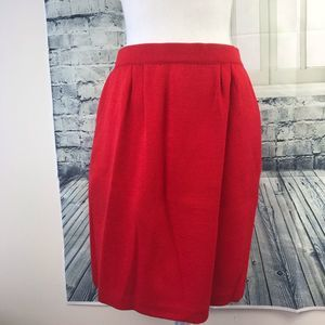 St John Collection Red Knit Skirt